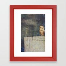 Whoo Goes There? Framed Art Print