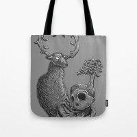 Nature Life Cycle BW Tote Bag