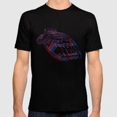 Classic Galactica 3D Black Mens Fitted Tee SMALL