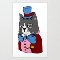 Dignified Cat Art Print