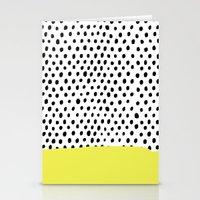 Polka dot rain dip Stationery Cards