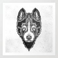 Dog Black  Art Print