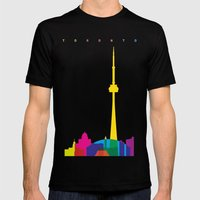 Shapes of Toronto. Accurate to scale Mens Fitted Tee Black SMALL