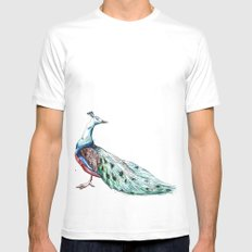Peacock SMALL White Mens Fitted Tee