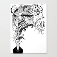 Mr Lovercraft's Monsters Canvas Print