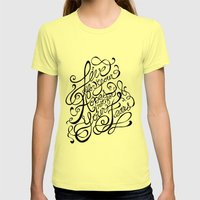 Live for Your Hopes Womens Fitted Tee Lemon SMALL