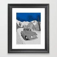 Lonely Road Framed Art Print
