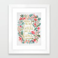Framed Art Print featuring Little & Fierce by Cat Coquillette