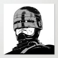 Robocop (b/w) Canvas Print
