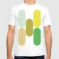 Laying Down Mens Fitted Tee White SMALL