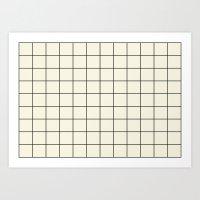 Simple Grid Art Print