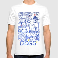 Dogs✧ Mens Fitted Tee White SMALL