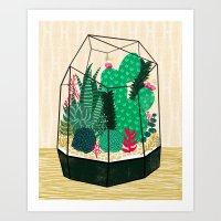 Terrarium - Geodesic Pla… Art Print