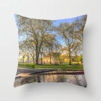 Buckingham Palace and Canadian War Memorial Throw Pillow