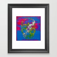 The 4i Skull - Mixed Med… Framed Art Print