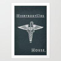 House M.D. - Minimalist … Art Print