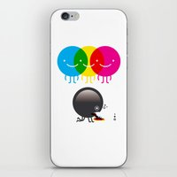 CMY makes K dizzy iPhone & iPod Skin