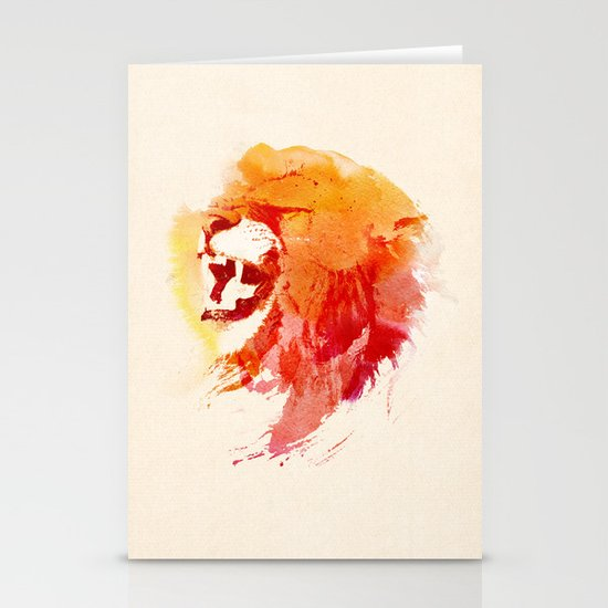 Angry Lion Stationery Card