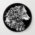 Wolf Profile Wall Clock