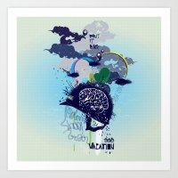 Art Print featuring Brainvacation by Anca Sangadji