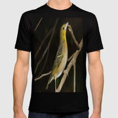 Yellow Birdy Black SMALL Mens Fitted Tee