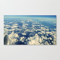 Flying Over Mountain Top… Canvas Print