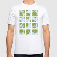 MCM Tiki Palm Mens Fitted Tee Ash Grey SMALL