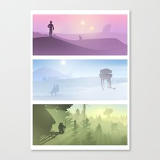 Planetscape Trilogy Canvas Print