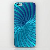 Blue Spiral Vortex G213 iPhone & iPod Skin
