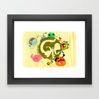 CARE - Love Our Earth Framed Art Print
