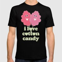 Cute Cotton Candy Mens Fitted Tee Black SMALL