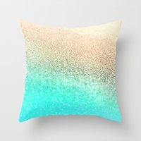 GOLD AQUA Throw Pillow