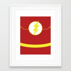 The Flash Framed Art Print