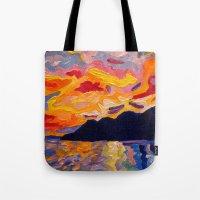 West Coast Sunset  Tote Bag