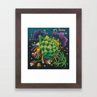 Pixel world Framed Art Print