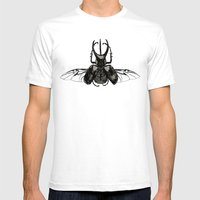Scarab Two Mens Fitted Tee White SMALL