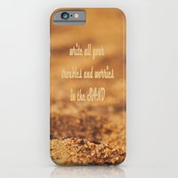 Write Your Troubles on the Sand iPhone 6 Slim Case