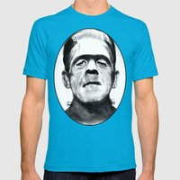 Frankenstein Mens Fitted Tee Teal SMALL