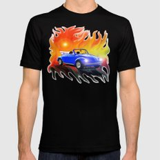 70 VW Super Beetle Black SMALL Mens Fitted Tee