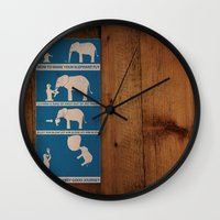 how to make your elephant fly Wall Clock