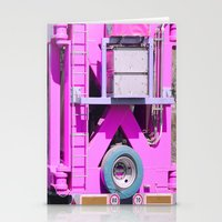 Pink Pink Truck Stationery Cards