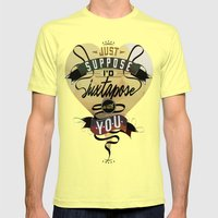 Juxtapozed with you Mens Fitted Tee Lemon SMALL