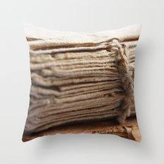 Book binding from 1787 Throw Pillow