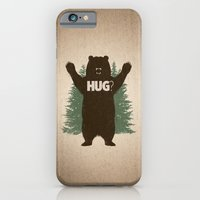 iPhone & iPod Case featuring Bear Hug by powerpig