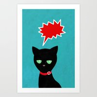 Cat -Black Cat Art Print