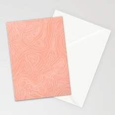 Ocean depth map - coral Stationery Cards