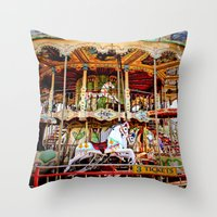 Double Decker Carnival C… Throw Pillow