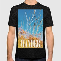 The Colors of Fall Mens Fitted Tee Tri-Black SMALL