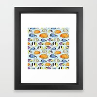 Fish Pattern Framed Art Print