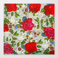 the garden of roses Canvas Print